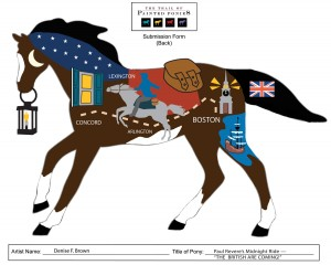 Denise Brown PATRIOTIC: Paul Revere Pony
