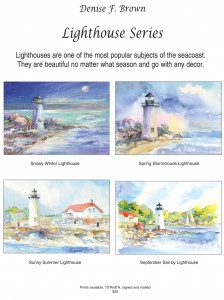 denise brown's lighthouses paintings