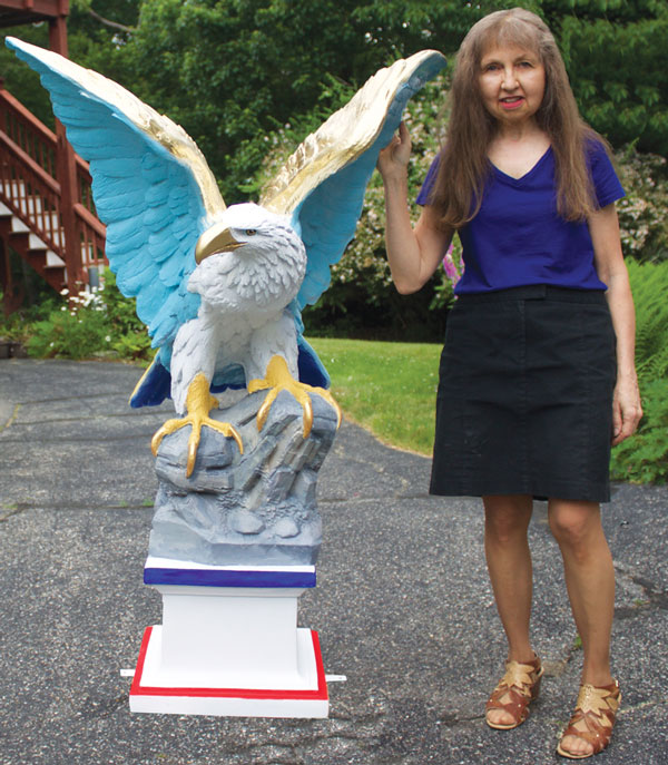 Eagle Painted for Veterans Count by Denise Brown