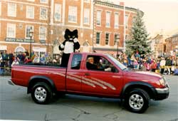 Ted in the Portsmouth Christmas Parade